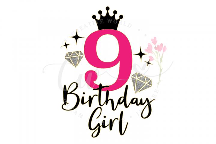 9th Birthday svg | My 9th Birthday svg | Princess Diva