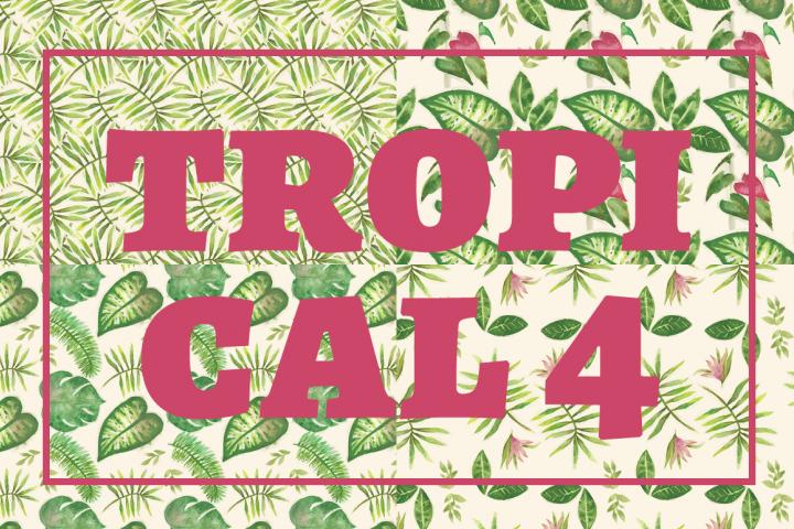 Watercolor Tropical Plants Patterns