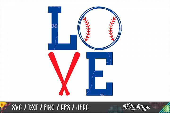 Love Baseball SVG, Baseball Mom SVG, DXF PNG Cricut Cut File