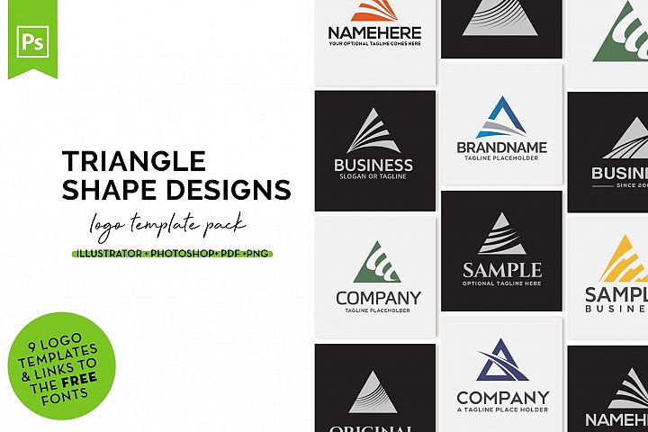Triangle Logo Design Set