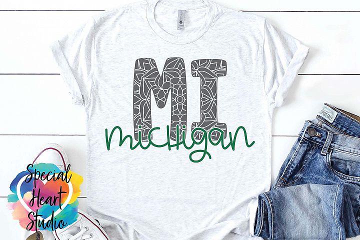 Michigan Mandala - A State SVG Cut File