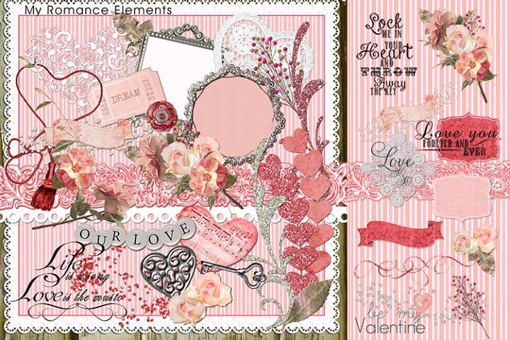 My Romance Clip Art & Element Pack- 49 Piece Set.
