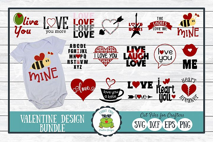 Valentine Design Bundle SVG Cut Files for Crafters