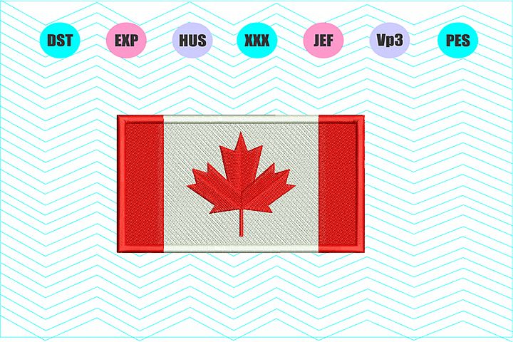 Canada Flag Machine Embroidery Design INSTANT DOWNLOAD