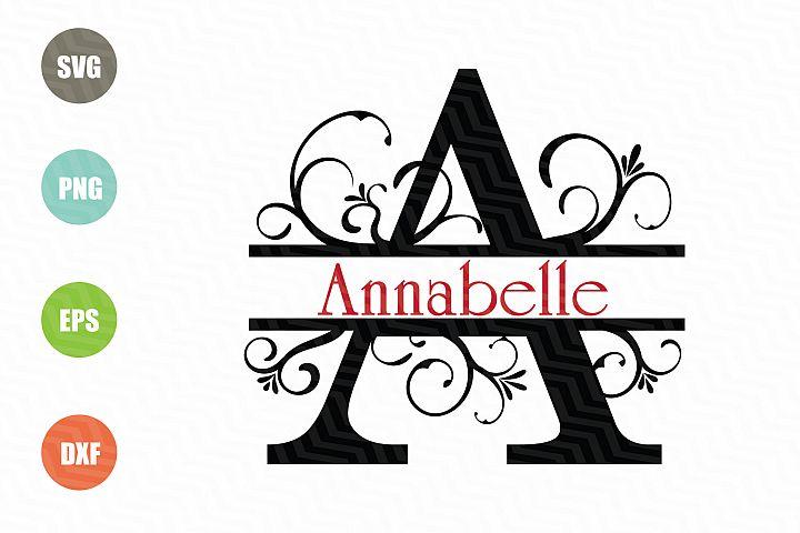 Split Letters A-Z SVG, Alphabet Letters A-Z