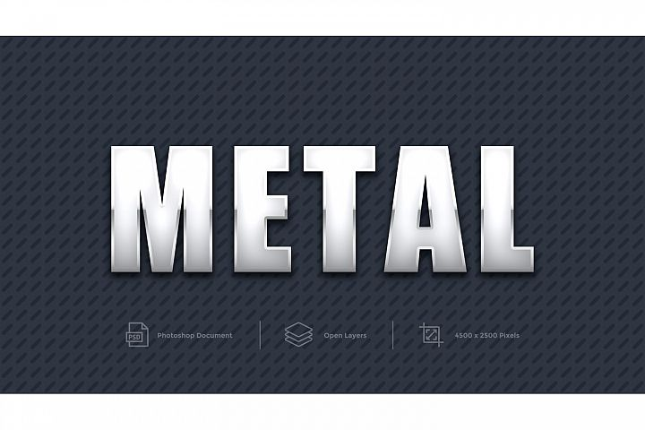 Metal Text Effect Design Photoshop Layer Style Effect