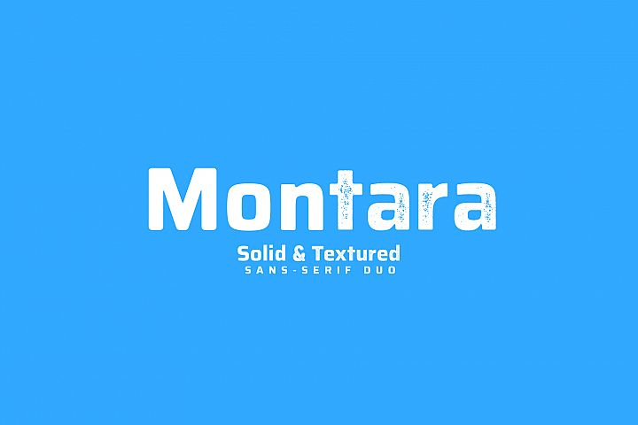 Montara - Sans serif duo Clean+Textured version