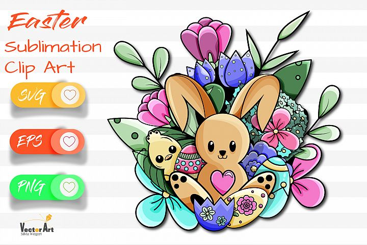 Happy Easter - Sublimation / Clip Art