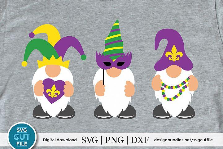 Mardi gras gnome svg, Gnomes svg, three gnomes svg dxf png,