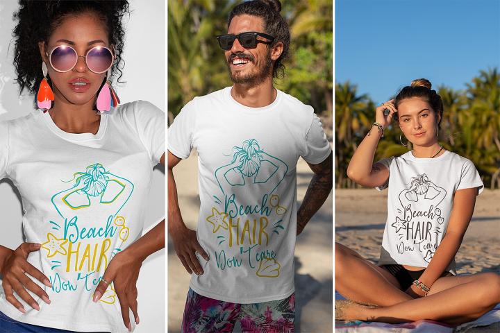 Beach Hair Dont Care  Summer & Beach SVG Cut File