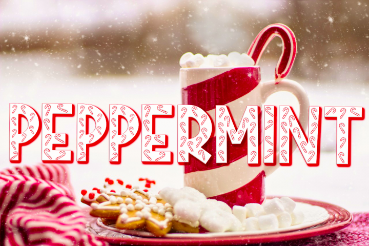 Peppermint | A Holiday Font With Candy Canes in Letters