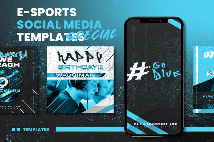 Social Media E Sport Templete