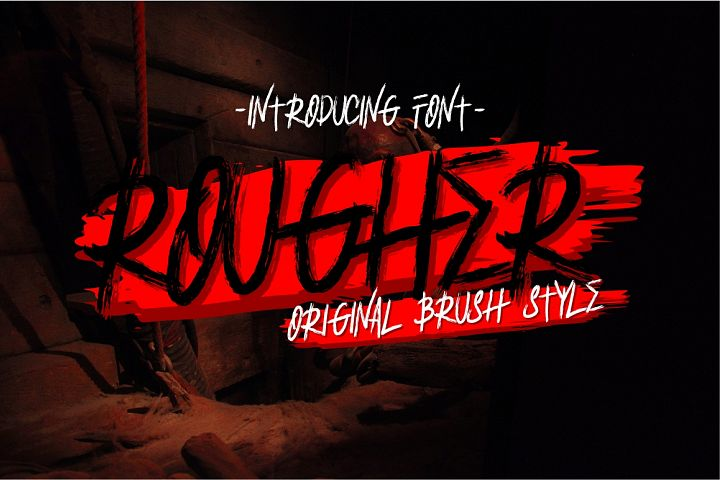 Rougher Brush Font