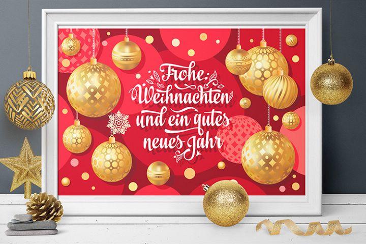Frohe Weihnachten. German Christmas