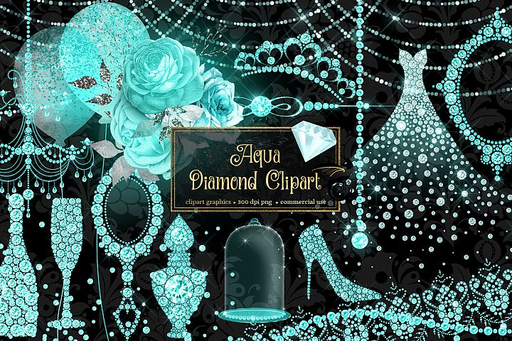 Aqua Diamond Clipart