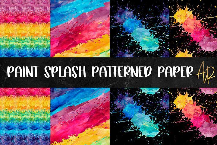 Paint Splash Pattern Paper PNG JPEG Bundle with BONUS file