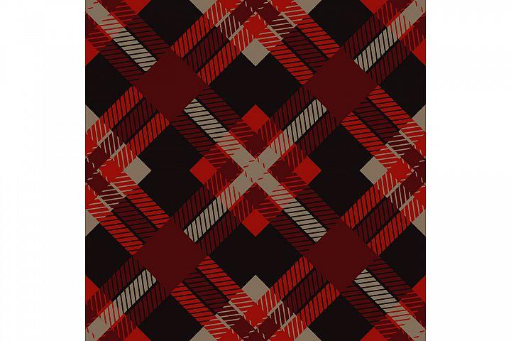 Tartan texture. Set of 10 seamless patterns.