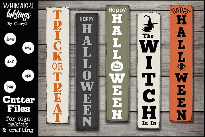 Halloween Verticals SVG Set