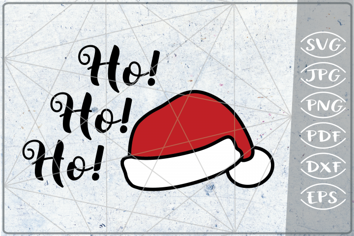 Ho! Ho! Ho! Santa Laugh SVG Quote SVG Merry Christmas Print