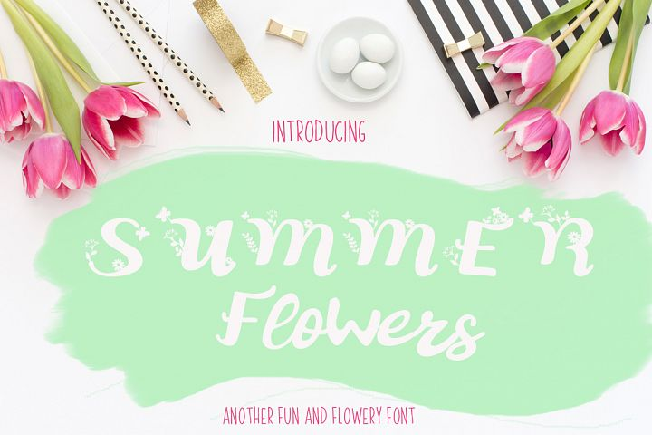 Summer Flowers Fun and Flowery Font