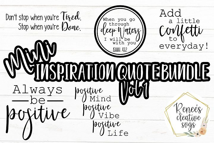 Mini Inspiration Bundle Vol 1I Quote Bundle | SVG PNG JPEG