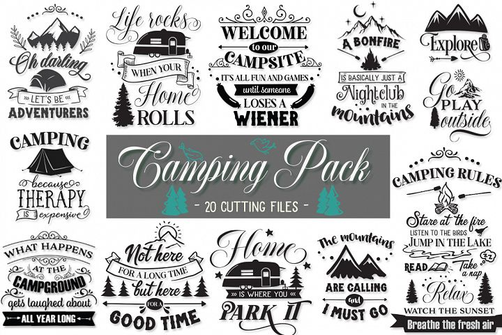 Camping Pack - 20 Cutting Files