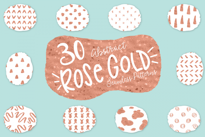 Abstract Rose Gold Seamless Patters - 30 Seamless Patterns