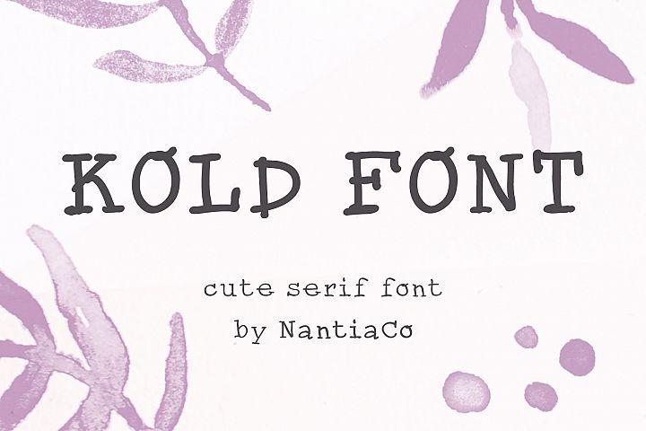 Cute Serif handwritten Font | Kold