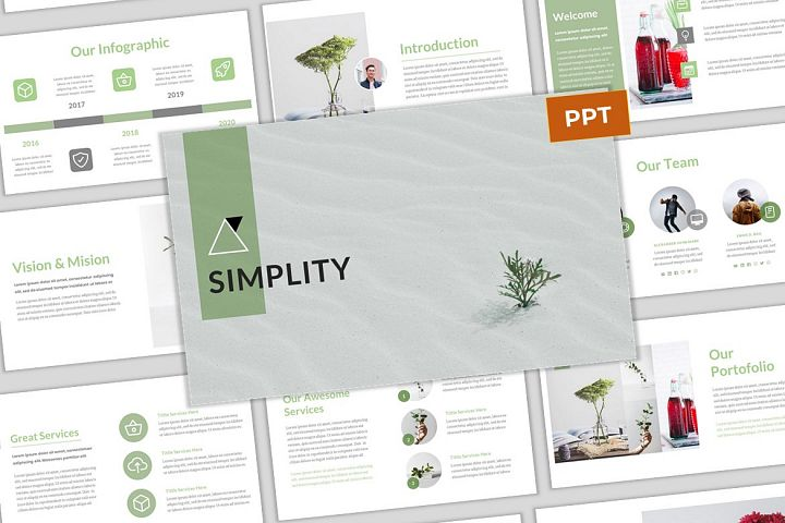 Simplity - Simple & Modern Business PowerPoint Template