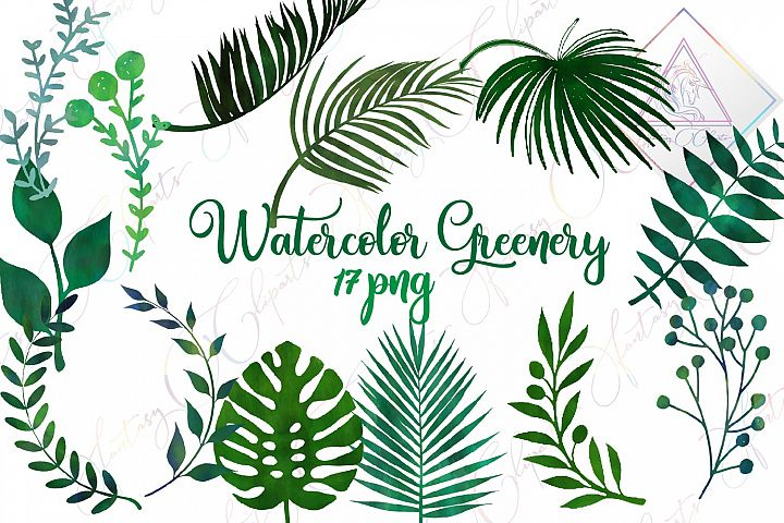 Watercolor Greenery Clipart