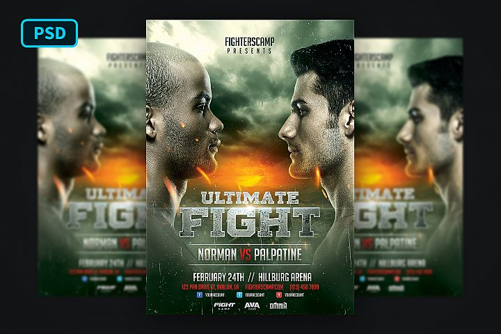 Boxing MMA Poster Template