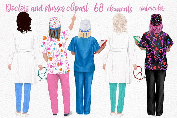 Doctors clipart,Nurses Scrubs,Doctors scrubs,Medical clipart