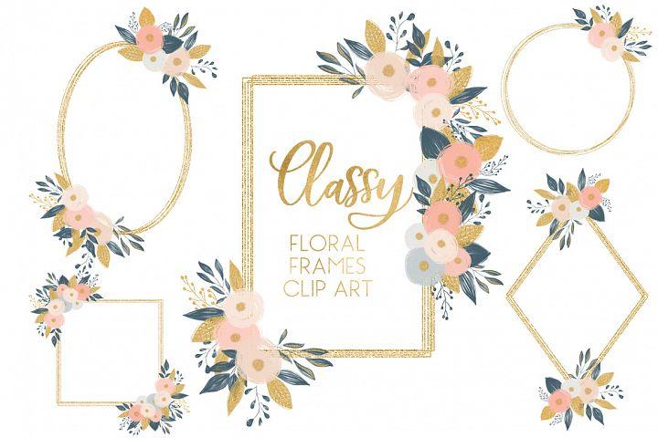 Classy Floral Frames  Clip Art
