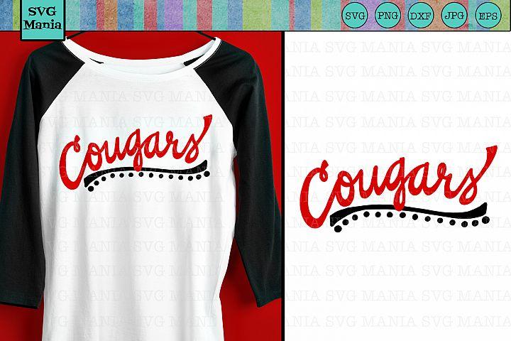 Cougars SVG File, Cougars Sports Team SVG, Cougar Spirit SVG