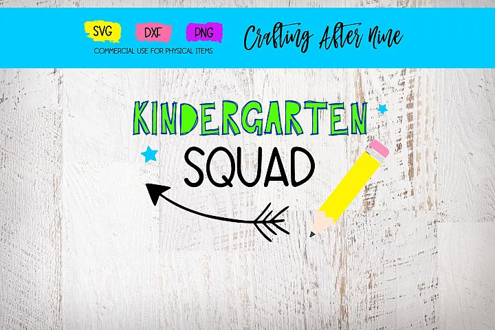 Kindergarten Svg, Kinder Squad Svg, Teacher, School, Back to