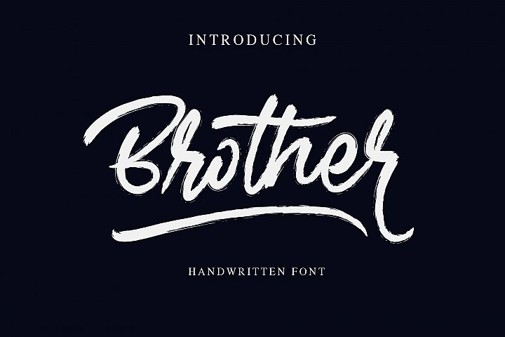 Brother - Handwritten Font