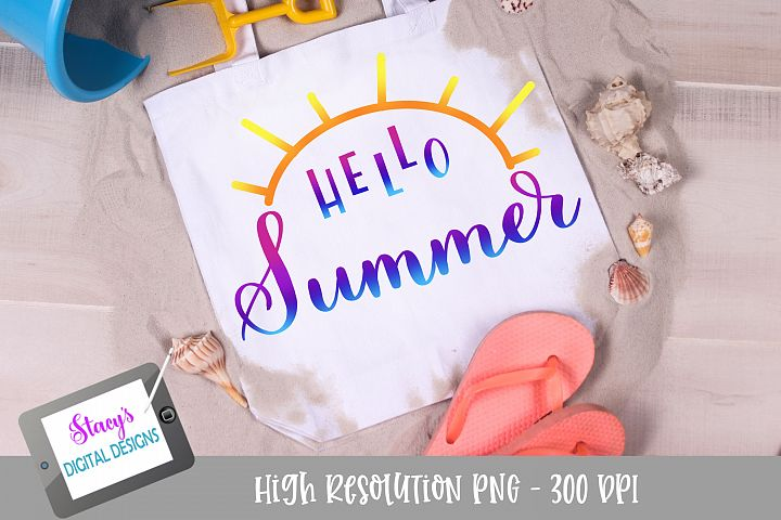 Hello Summer PNG - Sublimation Design