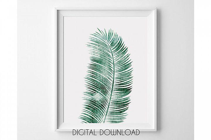 Tropical Leaf Print, Green Leaf Print, Palm Leaf Decor