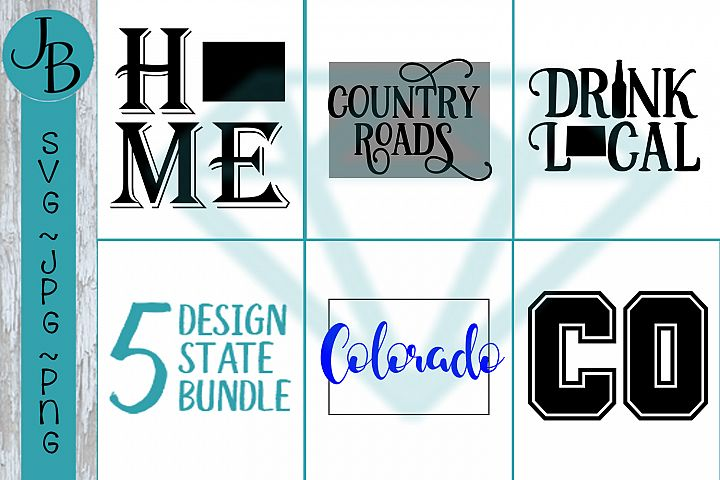 Colorado State Pride Bundle, CO SVG Bundle
