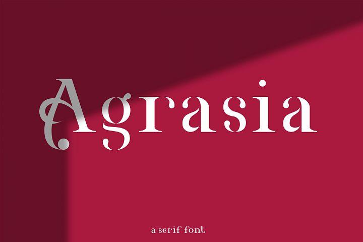Agrasia   Serif Font