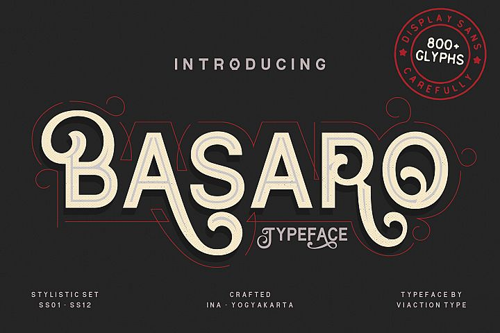 Basaro - Display Typeface