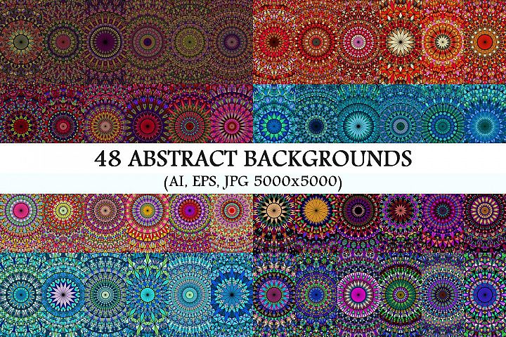 48 Mosaic Mandala Backgrounds