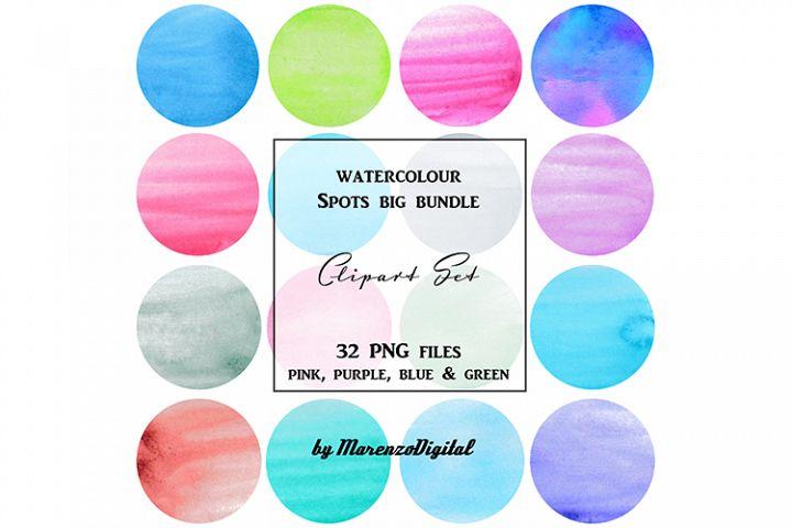 Watercolour Spots Big Bundle
