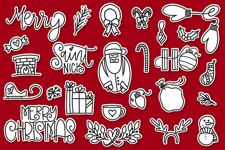 Christmas Dingbats - A font filled with Christmas symbols