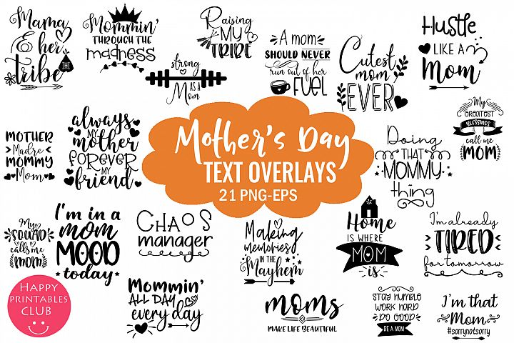 Mothers Day Overlays-Photo Overlays-Word Art-Mom Quotes