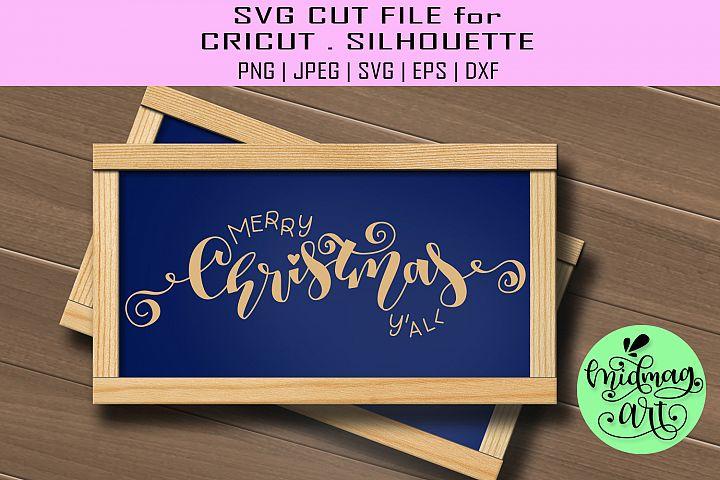Merry christmas yall sign svg, christmas wood sign svg