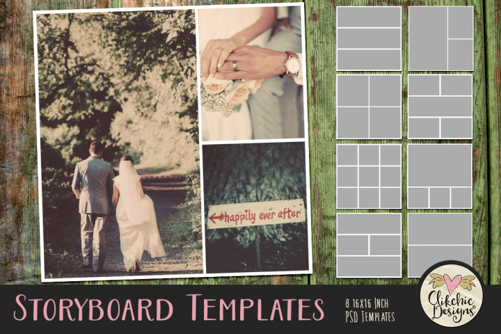 Storyboard Layered Photoshop Photo Templates & Tutorial