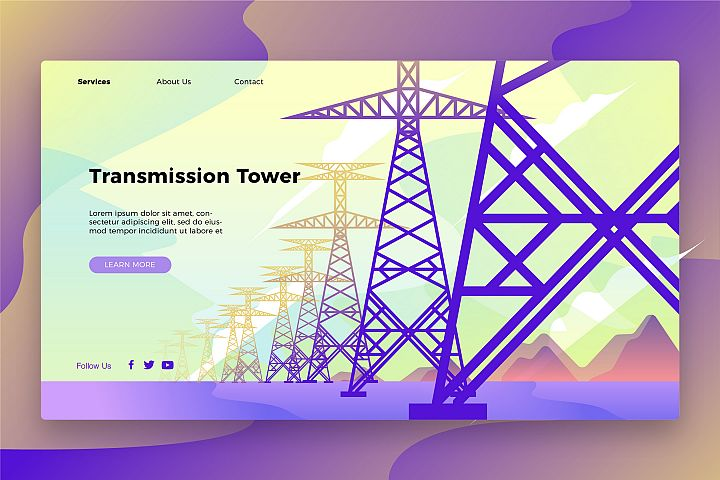 Transmission Tower - Banner & Landing Page