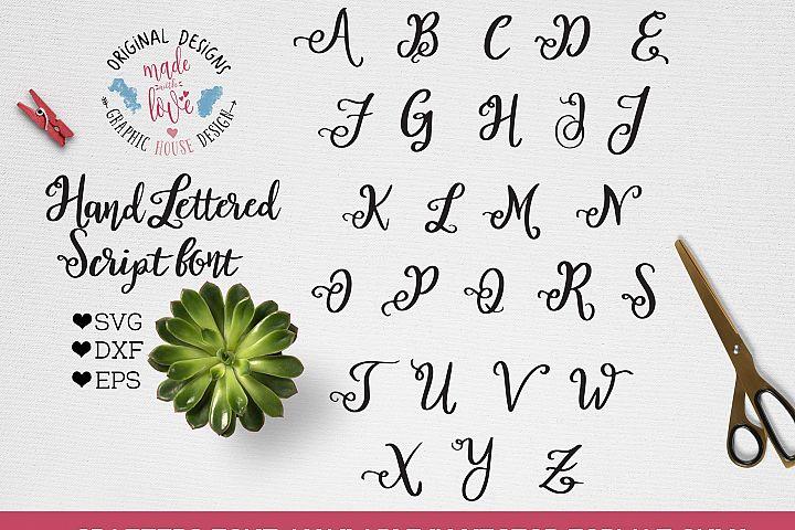 Handlettered Script Vector Font for Crafters SVG, DXF, EPS