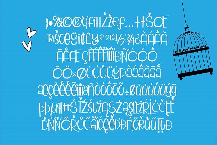 ZP Blackbird Pie - Free Font of The Week Design1